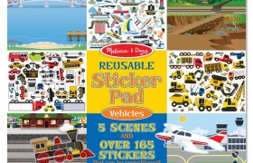 Melissa and Doug Vehicles Reusable Sticker Pad