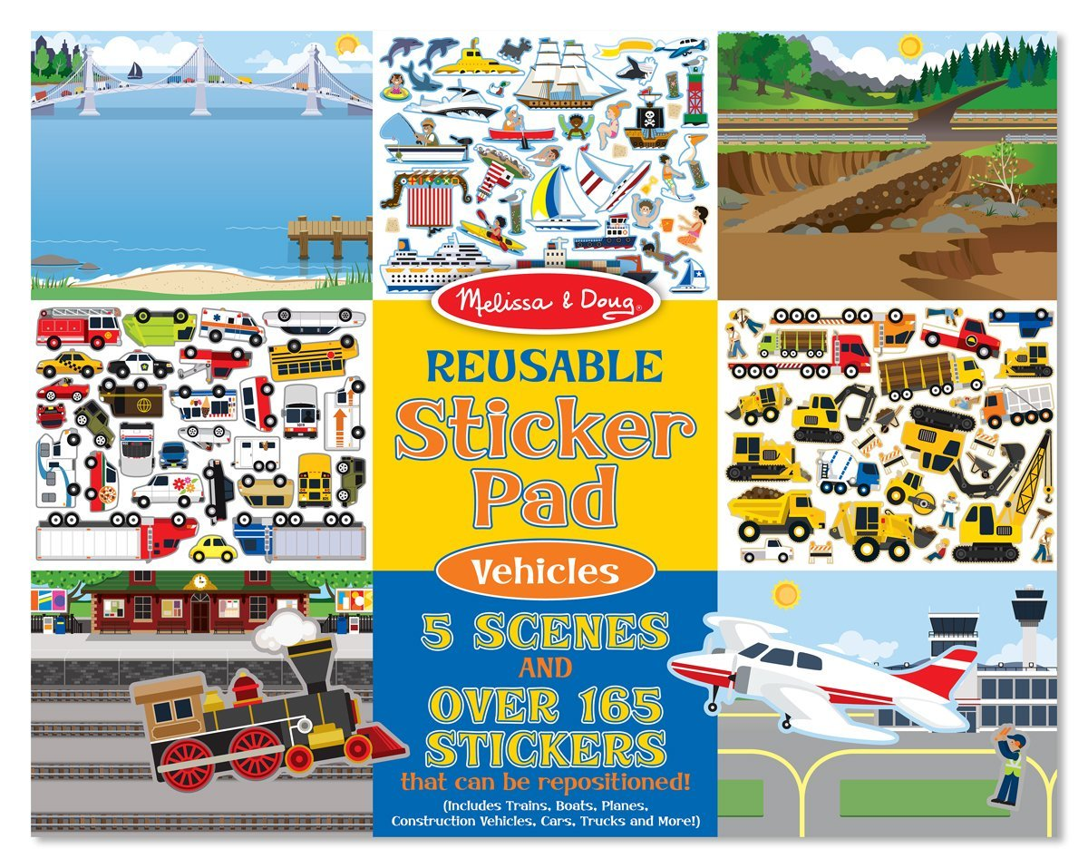 Melissa and Doug Vehicles sticker pad