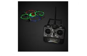 Multi-colored Fiber-optic LED 4.5 Ch. Quadcopter