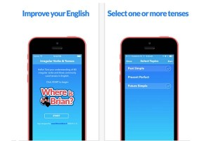 Where is Brian? English Tenses and Verbs Quiz App