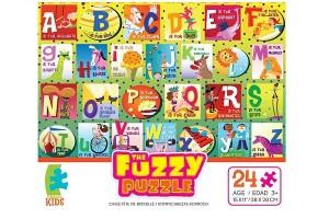 Fuzzy Puzzle 24-Piece Alphabet Puzzle