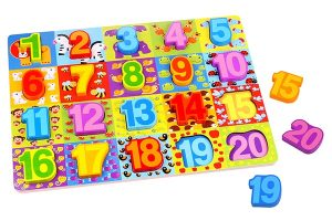 NumberZoo Wooden Number Puzzle