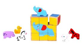 Six-in-One Animal Friends Cube Puzzle